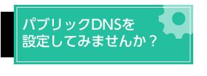 パブリックDNSを設定しませんか?